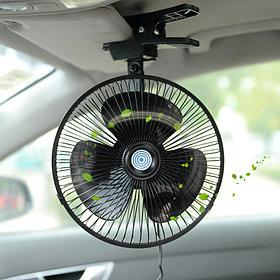 Автомобильный вентилятор на прищепке от прикуривателя.