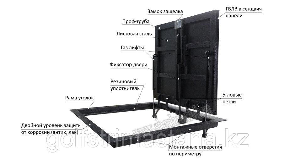 """Люк напольный """"Стелс"""", 1300*1100п мм. под плитку"""