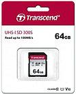 Карта памяти SD 64GB Class 10 U1 Transcend TS64GSDC300S V10