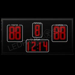 Табло электронное 128 х64 см (внеш 133х69 ) красн с ПО WiFi