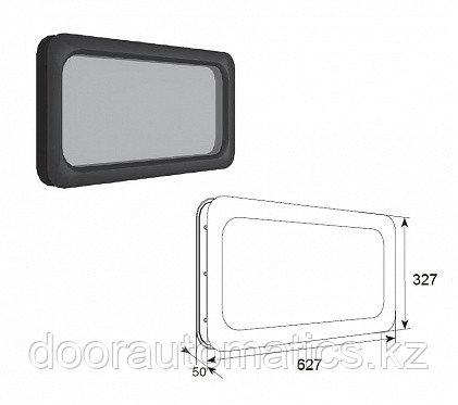 Окно акриловое для панелей толщиной 40мм с двойным стеклом 635х330мм