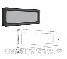 Окно акриловое для панелей толщиной 40мм с двойным стеклом 588х181мм
