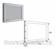 """Окно акриловое для панелей толщиной 40мм со структурой """"Филенка"""" и двойным стеклом 455х295мм"""