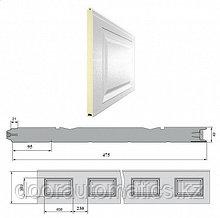 Панель «Филёнка» 475 мм шаг 230 мм Дерево/Стукко