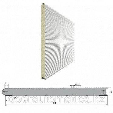 Панель «Волна» 475мм Дерево/Стукко