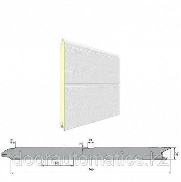 Панель «С широкой центральной полосой» с ЗЗП 500 мм Дерево/Стукко