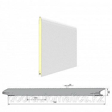Панель «Волна» с ЗЗП 500 мм шаг 16мм Гладкая/Стукко