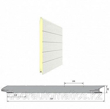 Панель «Горизонтальная полоса» с ЗЗП 500 мм Дерево/Стукко