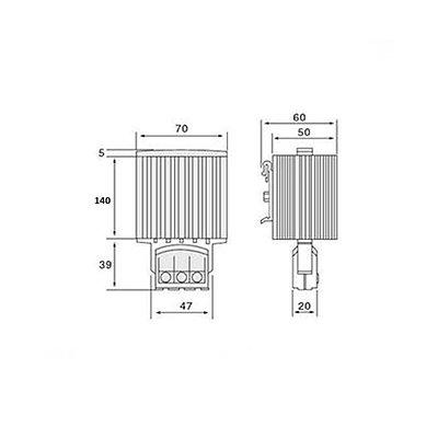 Обогреватель шкафной, iPower, HG140 100W 110-250V AC/DC