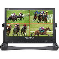"""Монитор FeelWorld (Seetec) ATEM156 4K 15.6"""" Quad-Split Monitor with 4 x HDMI I/O for Switchers"""