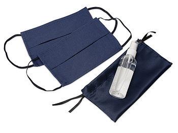 Набор средств индивидуальной защиты в сатиновом мешочке Protect Plus, синий