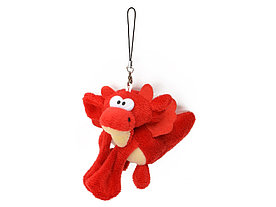 Мягкая игрушка- брелок Дракон, красный
