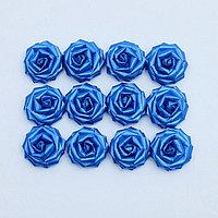 Набор роз для украшения свадебных машин, D=5 см,12 шт, синий