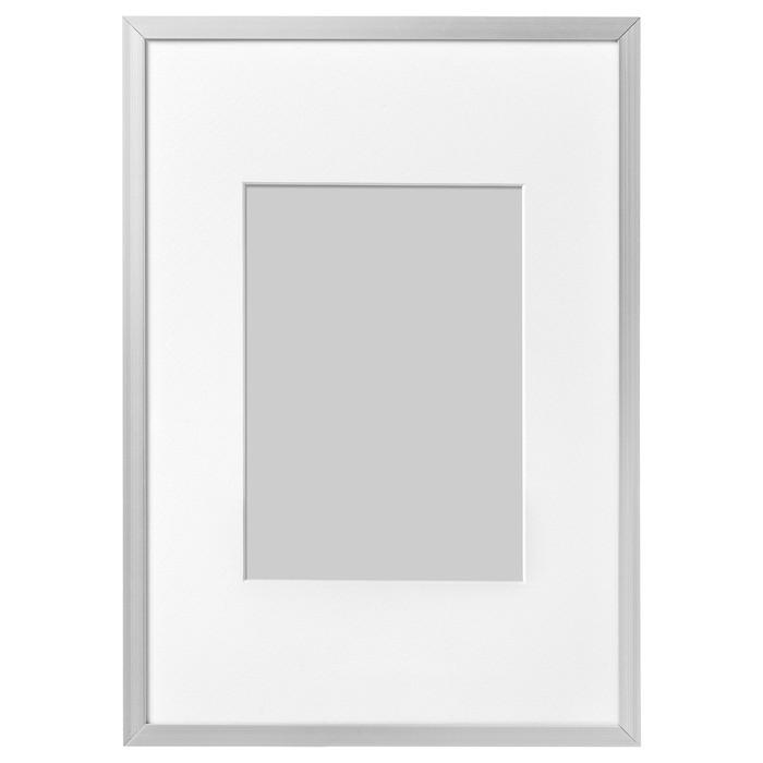 Рама ЛОМВИКЕН, 21х30 см, цвет алюминий