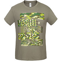 Футболка мужская «Искусство камуфляжа», размер L, цвет серый