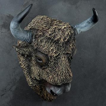"Подвесной декор ""Голова бизона"" 51х61х32см"