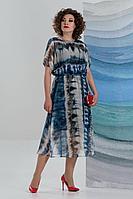 Женское летнее шифоновое нарядное большого размера платье Avanti Erika 1193-6 50р.