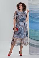 Женское летнее шифоновое нарядное большого размера платье Avanti Erika 1193-7 50р.