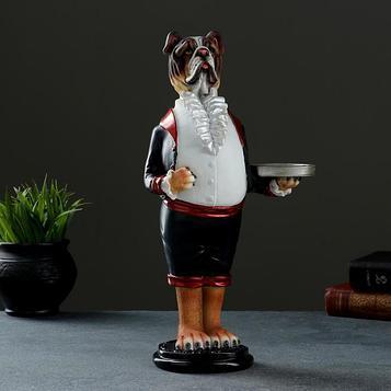"Фигура - подставка ""Пёс-официант"" акрил 10х16х34см"