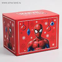 "Коробка подарочная складная ""Marvel. New year"", Человек-паук, 20 × 15 × 14 см"