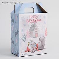 "Коробка подарочная складная ""Happy new year"", Me To You, 16 х 21 х 10 см"