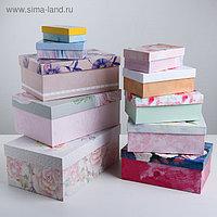 Набор подарочных коробок 10 в 1 «Цветы», 12 х 7 х 4 - 32,5 х 20 х 12,5 см