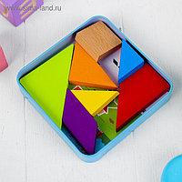 Головоломка «Танграм» в коробочке + книжка со схемами