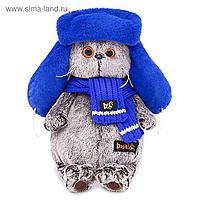 Мягкая игрушка «Басик», в меховой шапке, 25 см