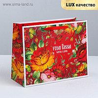 Пакет ламинированный горизонтальный «Русские узоры», M 26 × 30 × 9 см