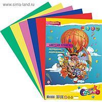 Бумага цветная самоклеящаяся, мелованная, А4, 5 листов, 5 цветов, deVENTE