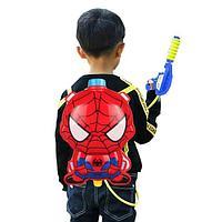 Водный пистолет рюкзак объем 2 литра Человек паук