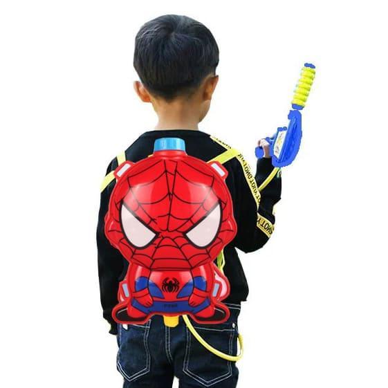 Водный пистолет рюкзак объем 2 литра Человек паук - фото 1