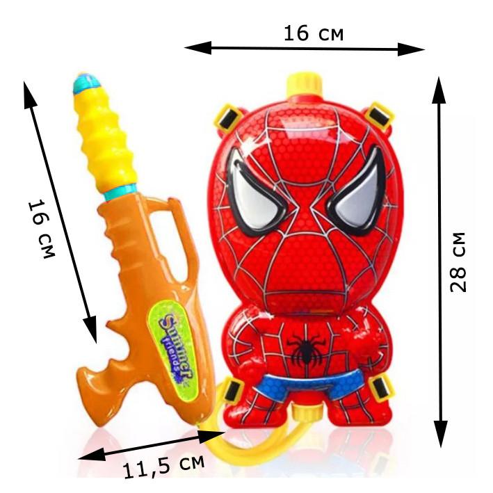 Водный пистолет рюкзак объем 2 литра Человек паук - фото 2