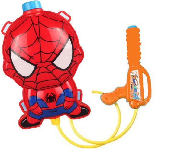 Водный пистолет рюкзак объем 2 литра Человек паук - фото 10