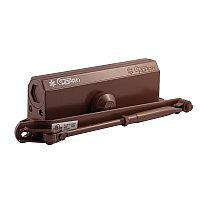 Доводчик дверной НОРА-М №5S большой, цвет - коричневый (до 160кг) морозостойкий