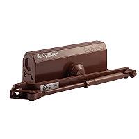 Доводчик дверной НОРА-М №4S большой, цвет - коричневый (до 120кг) морозостойкий