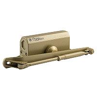 Доводчик дверной НОРА-М №3S большой, золото (до 80 кг) морозостойкий