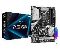 Intel 1200 Z490 ASRock 4DDR4 4SATA 2M2.0 Raid VGA HDMI DP ATX (Z490 PRO4), фото 1