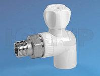 PPR Кран радиаторный угловой НР D20-1/2 КОНТУР