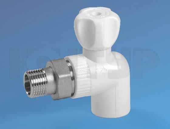 PPR Кран радиаторный угловой НР D25-3/4 КОНТУР
