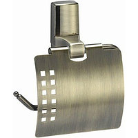 Держатель туалетной бумаги WasserKRAFT Exter с крышкой Светлая бронза (K-5225)