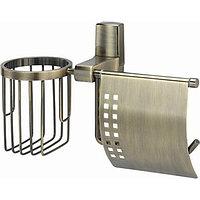 Держатель туалетной бумаги и освежителя воздуха WasserKRAFT Exter Светлая бронза (K-5259)