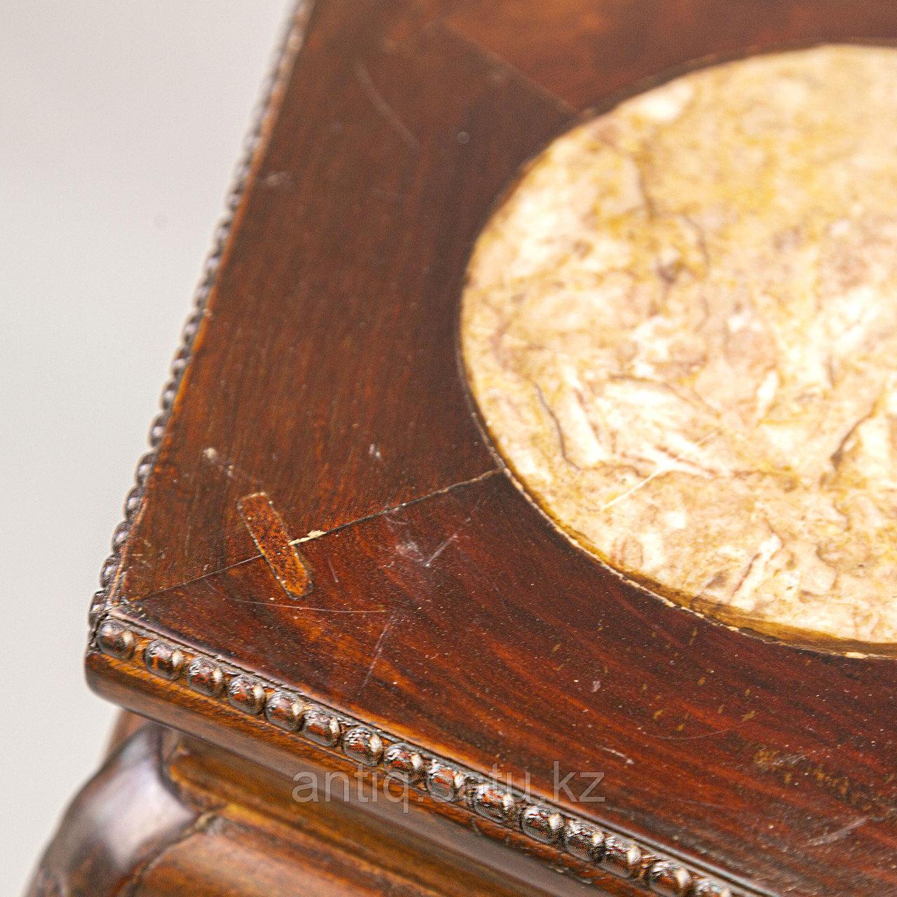 Китайская подставка для кашпо Китай. I половина XX века Массив дерева, ручная резьба, натуральный камень - фото 5