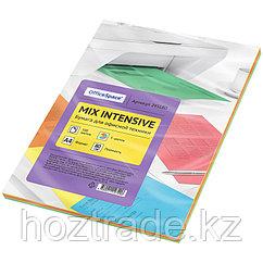 Бумага цветная OfficeSpace intensive mix А4, 80г/м2, 100л. (5 цветов)