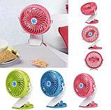 Мини-вентилятор Mini Fan с аккумулятором на прищепке для авто и дома., фото 2