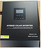 3KVA чистая синусоида гибридный солнечный инвертор 24В 220В встроенный PWM 50A Солнечный контроллер заряда