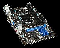 Материнская плата (S-1150) MSI B85 B85M-iCAFE (DVI+VGA) 1xPci-Ex16 1xEx1 2xDDR3 Glan