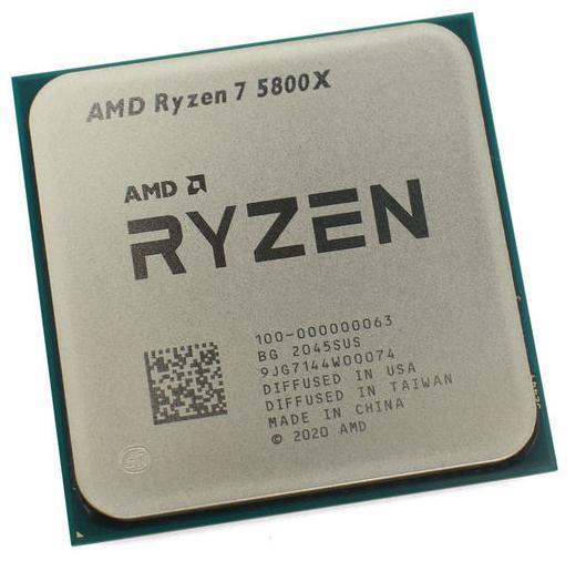 Процессор AMD Ryzen 7 5800X 3,8Гц (4,7ГГц Turbo) Zen 3 8-ядер 16 потоков