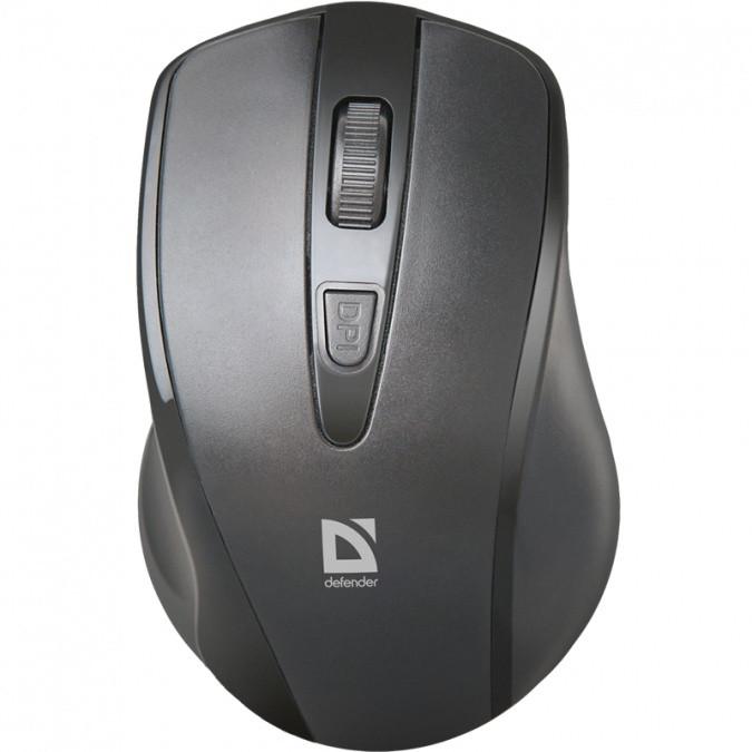 Мышь беспроводная Defender Datum MM-265 черный, 3 кнопки,1600 dpi