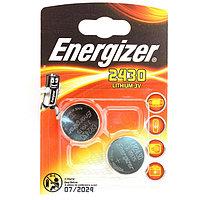 Элемент питания Energizer CR2430 Lithium - 2 штуки в блистере